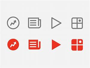 BuzzFeed - iOS icons by Chris Rushing   Dribbble   Dribbble