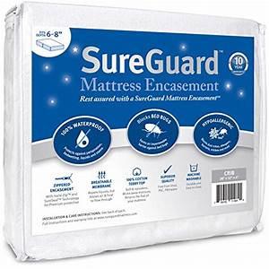 crib size sureguard mattress encasement 100 waterproof With crib mattress bed bug protector