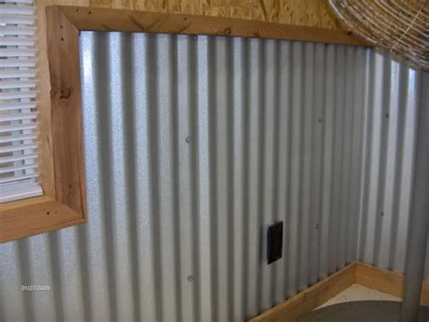Metal Wainscoting Ideas by Garage Walls Corrugated Metal This Is What Gave Me The