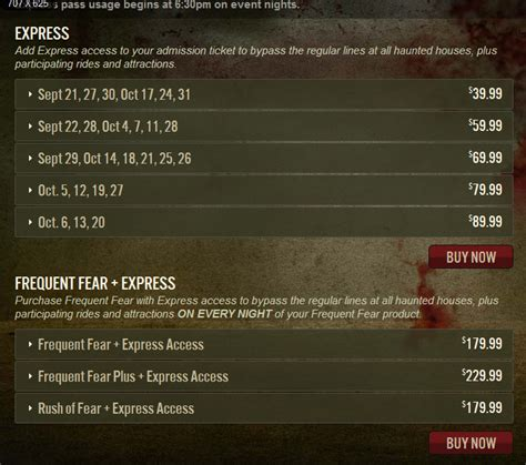 Halloween Horror Nights Express Passtm by Behind The Thrills Express Passes For Universal Orlando