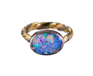 bezel engagement ring gregson boulder opal twist ring in rings stones at twistonline