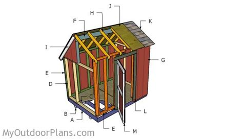 6x8 saltbox shed plans 6x8 saltbox shed roof plans myoutdoorplans free