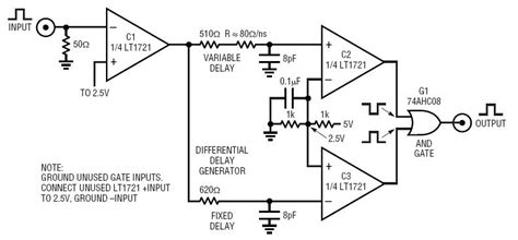 lt1721 pulse generator has 0ns to 10ns width 520ps transitions circuit collection analog devices