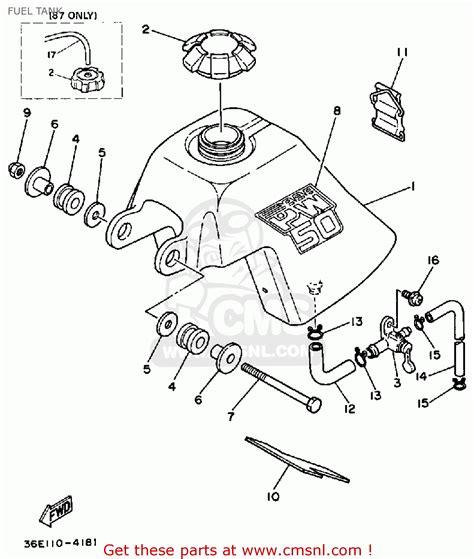 yamaha pw50 1986 g usa fuel tank buy original fuel tank spares online