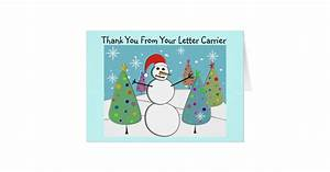 letter carrier thank you cards zazzlecom With letter carrier thank you cards
