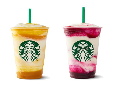 starbucks frappuccinos flavors  summer  shape
