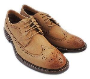 New Fashion Mens Lace Wingtip Oxfords Casual Leather
