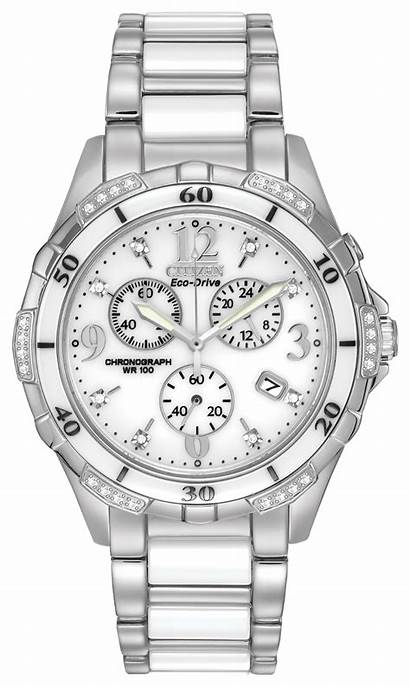 Citizen Diamond Ceramic Silhouette Crowd Eco Drive