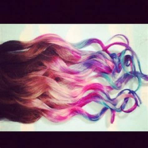 Dipped Multi Color Hair Strands Dip Dye Hair Hair Kool