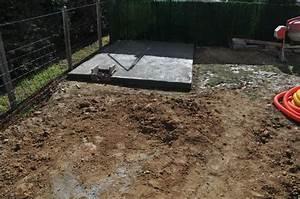 Couler Une Chape : dalle local et mur de soutenement piscine en blocs ~ Melissatoandfro.com Idées de Décoration