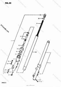Suzuki Motorcycle 1981 Oem Parts Diagram For Front Fork