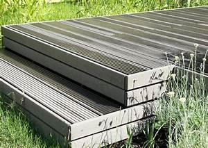 Bretter Für Terrasse : terrassengarten treppe wpc bretter verschraubt mit ~ Lizthompson.info Haus und Dekorationen