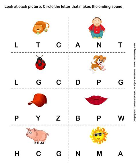 identify  beginning sound  words turtlediarycom