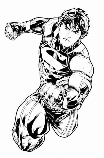 Drawing Superman Comic 52 Dc Superboy Characters