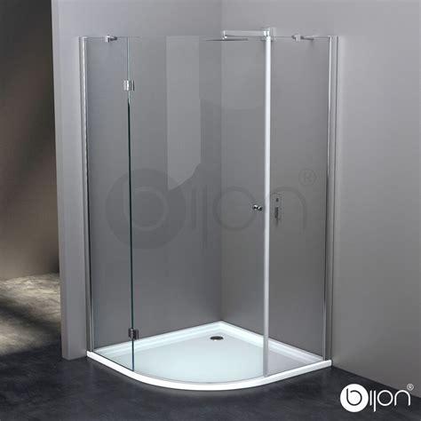 duschabtrennung glas 90x90 8mm glas duschkabine viertelkreis duschabtrennung rund echtglas nano dusche ebay