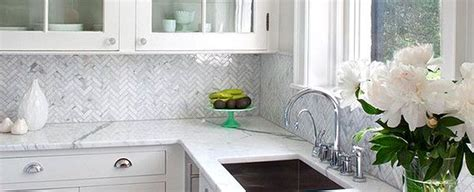 marble tile backsplash kitchen herringbone gray backsplash herringbone carrara white 7372