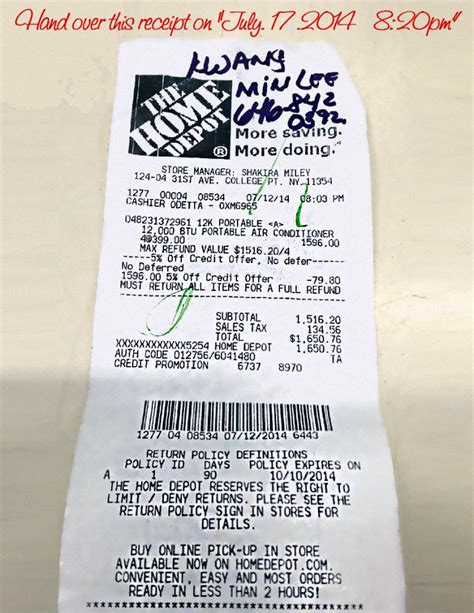home depot return without receipt limit hello ross