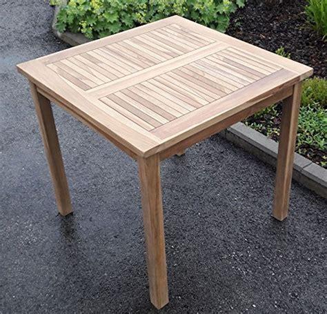 Teak Holztisch Gartentisch Garten Tisch 80x80cm