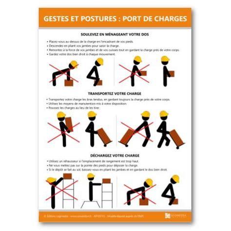 port de charge lourde affichage gestes et postures port de charges achat vente document type affichage gestes et