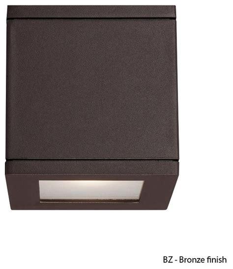 wac lighting rubix ws w2505 led outdoor square wall light
