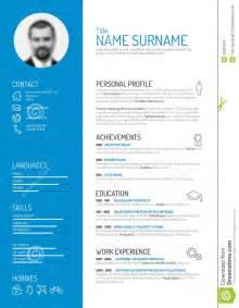 resume format word 2017 gratuit free cv resume template stock vector image 50593576