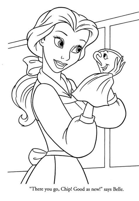 disney princesses belle coloring pages disney coloring