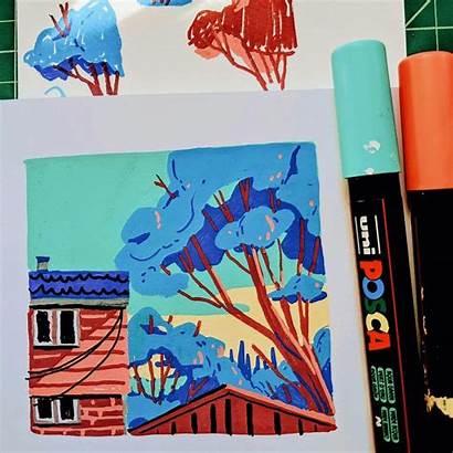 Drawing Posca Drawings Marker Paint Sketchbook Block