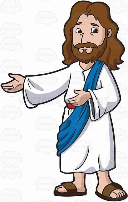 Jesus Happy Being Cartoon Christ Clipart Bible