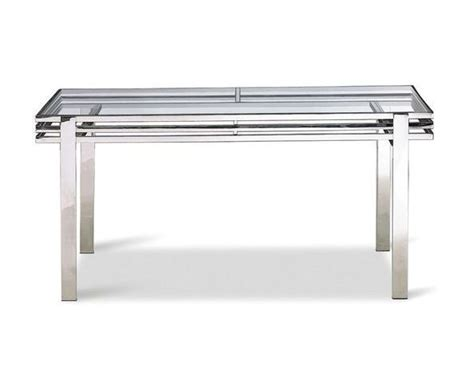 table bureau en verre table bureau en verre tremp 233 et inox poli sur deco and me