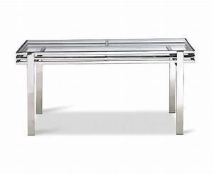 Bureau En Verre Design : table bureau en verre tremp et inox poli sur deco and me ~ Teatrodelosmanantiales.com Idées de Décoration