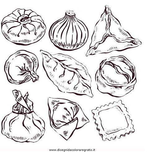 alimenti da colorare disegno gnocchi agnolotti alimenti da colorare