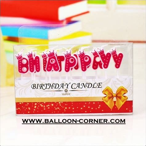 lilin ultah motif happy birthday warna pink biru