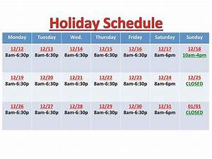 We want to update everyone on our upcoming Holiday ...