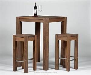Bartisch Mit Barhocker : hochtisch rio bonito 80x80x110 2 barhocker 35x35 cm pinie cognac braun ~ Yasmunasinghe.com Haus und Dekorationen