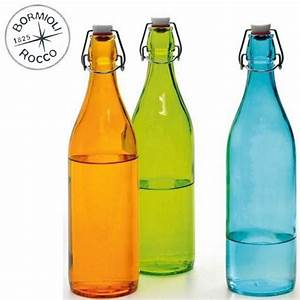 Bouteille Verre 1l : bouteille limonade couleur ustensiles de cuisine ~ Teatrodelosmanantiales.com Idées de Décoration