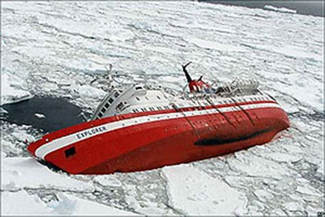 Antarctic Cruise Ship Sinks by Antarctica Tourism Environmental Impacts