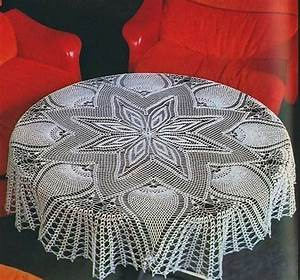 Large Star and Pineapple tablecloth Crochet Pattern