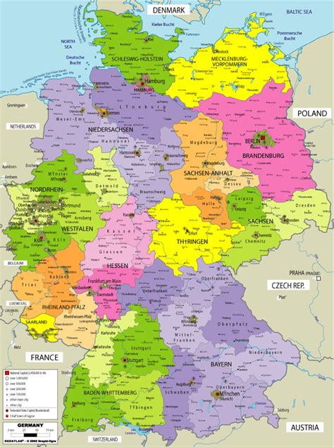 map  germany  cities  printable maps