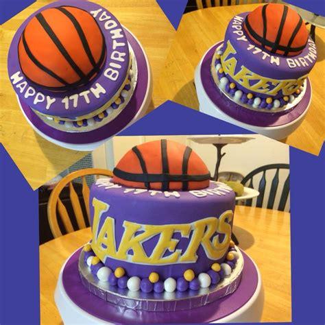 lakers birthday cake cakes pinterest birthday cakes
