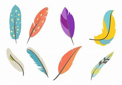 Feather Vector Boho Feathers Dream Catcher Flowers