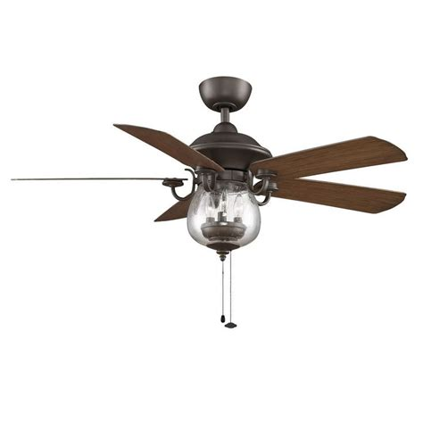 overstock outdoor ceiling fans fanimation crestford 52 inch rubbed bronze 3 light