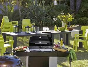 Grande Table De Jardin : cuisine d 39 t ext rieure avec grande table de jardin ~ Teatrodelosmanantiales.com Idées de Décoration