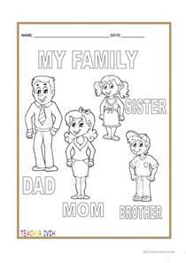 Kindergarten Family Worksheets