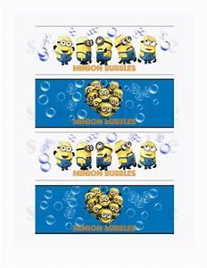 despicable me bubble bottle labels printable minion With bubble bottle label template