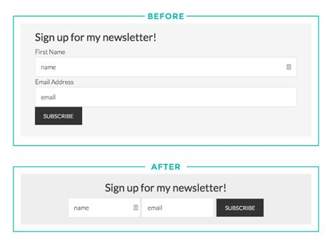 code for pretty horizontal mailchimp signup form how to add a horizontal mailchimp form to your site