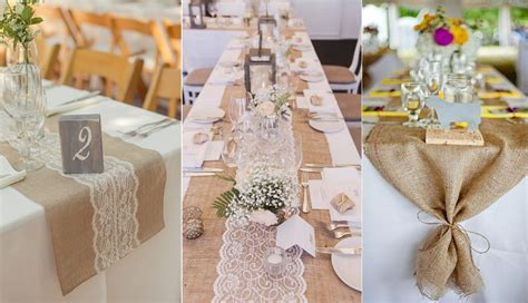 20 rustic burlap wedding table decor ideas roses rings