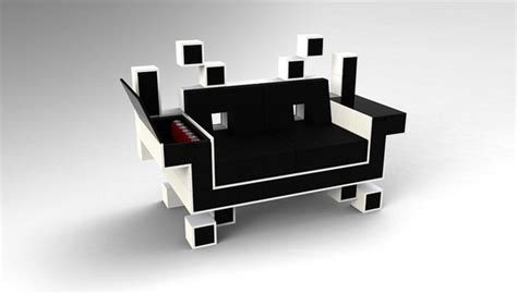 retro space invader alien couch xcitefunnet