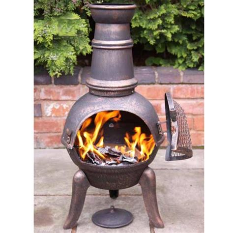Chiminea On Sale - gardeco cast iron granada chimineas on sale fast