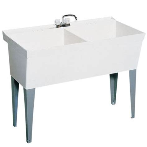 Home Depot Utility Sink by Swan 23 375 In X 45 375 In Veritek Bowl Laundry