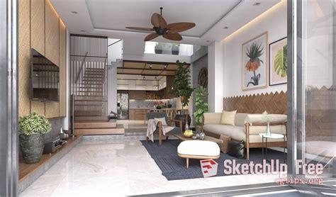 Sketchup Living Room Model by 758 Interior Livingroom Sketchup Model Free